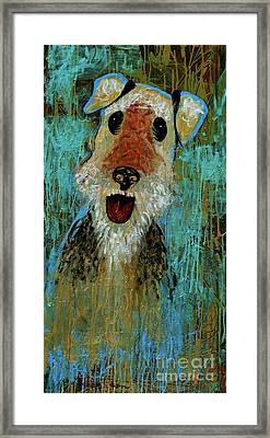 Airedale Terrier Framed Print by Genevieve Esson