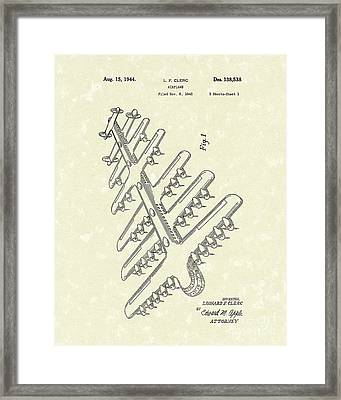 Airplane 1944 Patent Art Framed Print by Prior Art Design