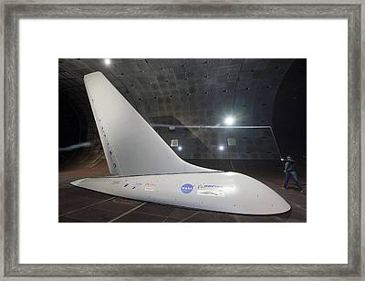 Airplane Flow Control Wind Tunnel Test Framed Print by Nasa/dominic Hart