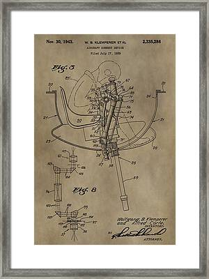 Airplane Gunnery Patent Framed Print by Dan Sproul