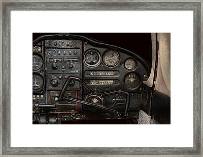 Airplane - Piper Pa-28 Cherokee Warrior - A Warriors View Framed Print by Mike Savad