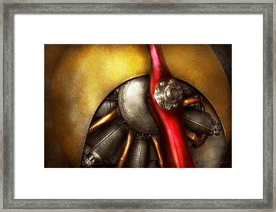 Airplane - Prop - Fine Lines Framed Print by Mike Savad