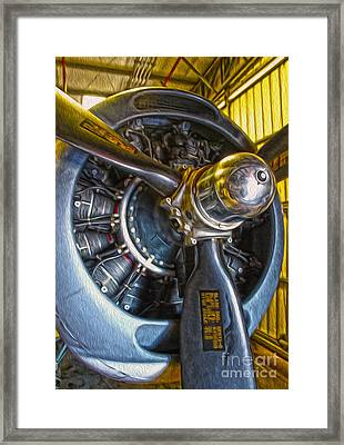 Airplane Propeller - 06 Framed Print by Gregory Dyer