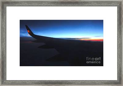 Airplane Wing - 02 Framed Print by Gregory Dyer