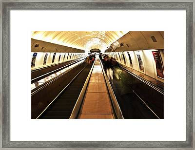 Airport People Mover Framed Print by Mountain Dreams
