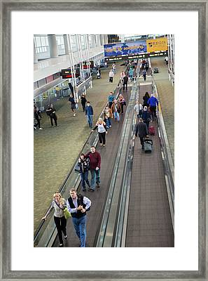 Airport Travelators Framed Print by Jim West