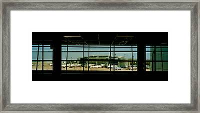 Airport Viewed Framed Print by Panoramic Images