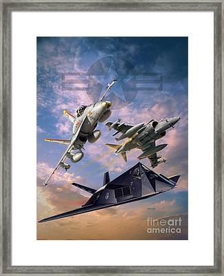 Airpower Over Iraq Framed Print by Stu Shepherd
