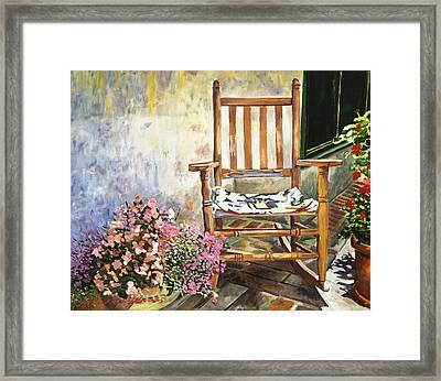 Aix Country Patio Framed Print by David Lloyd Glover