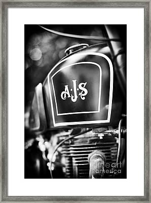 Ajs Monochrome Framed Print by Tim Gainey