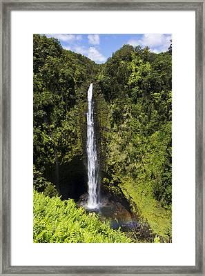 Akaka Falls Framed Print by Mike Herdering