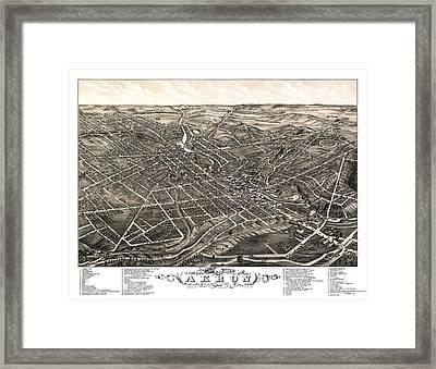 Akron - Ohio - 1882 Framed Print by Pablo Romero