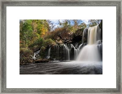 Akron Falls Framed Print by Mark Papke