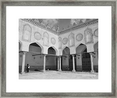 Al Azhar Mosque Cairo Framed Print by Nigel Fletcher-Jones