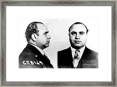 Al Capone Mug Shot Framed Print by Edward Fielding