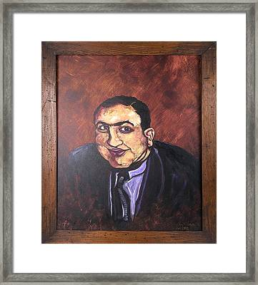 Al Capone Portrait Framed Print by Jennifer Noren