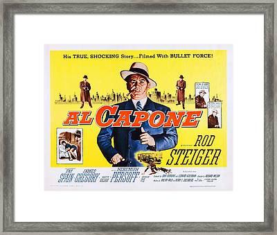 Al Capone, Us Lobbycard, Rod Steiger Framed Print by Everett