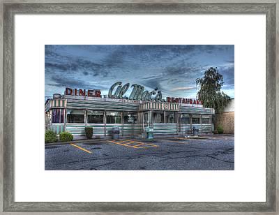 Al Mac's Diner Framed Print by Andrew Pacheco