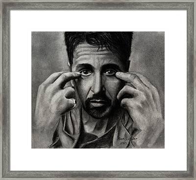 Al Pacino Framed Print by Alan Conder