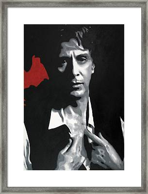 Al Pacino  Framed Print by Luis Ludzska