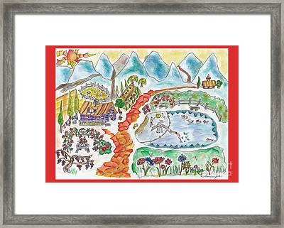 La Campagne // John And Mary // The Countryside Framed Print by Dominique Fortier