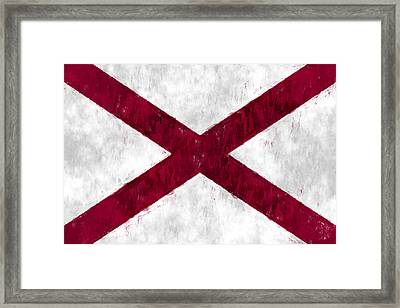Alabama Flag Framed Print by World Art Prints And Designs