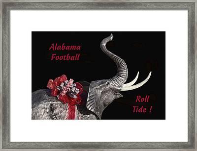 Alabama Football Roll Tide Framed Print by Kathy Clark