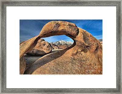 Alabama Hills Mobius Arch Framed Print by Adam Jewell