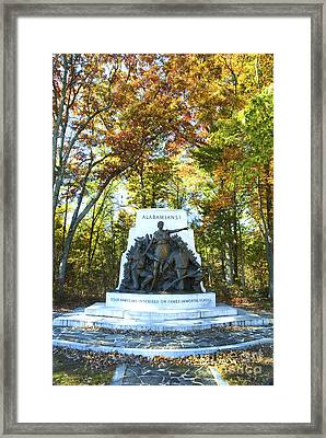 Alabama Monument At Gettysburg Framed Print by Paul W Faust -  Impressions of Light