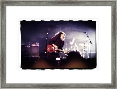 Alabama Shakes - Brittany Howard On Guitar Framed Print by Jennifer Rondinelli Reilly