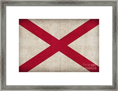 Alabama State Flag Framed Print by Pixel Chimp