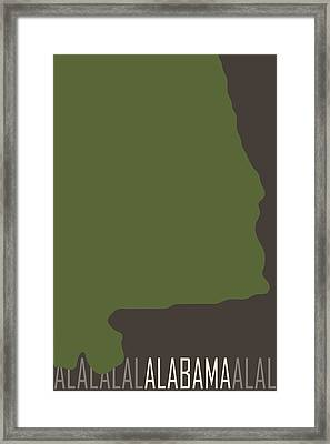 Alabama State Modern Framed Print by Flo Karp