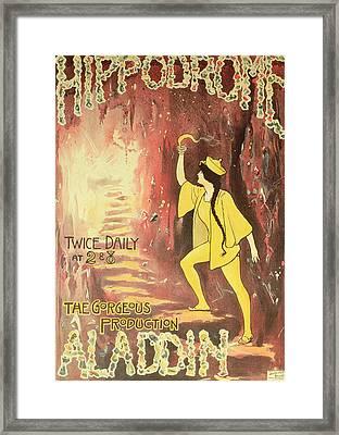 Aladdin Framed Print by English School