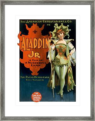 Aladdin Jr Jestor Framed Print by Terry Reynoldson