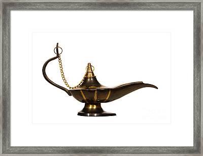 Aladdin Oil Lamp Framed Print by Olivier Le Queinec