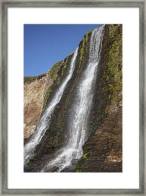 Alamere Falls Pacific Coast Framed Print by Garry Gay