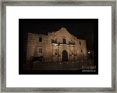 Alamo Mission In San Antonio Framed Print by John Stephens