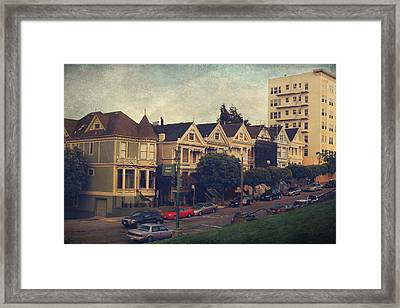 Alamo Square Framed Print by Laurie Search