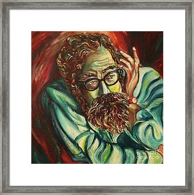 Alan Ginsberg Poet Philosopher Framed Print by Carole Spandau