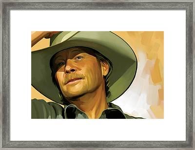 Alan Jackson Artwork Framed Print by Sheraz A