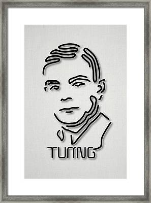 Alan Turing Framed Print by Ramon Andrade 3dciencia