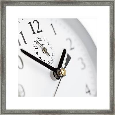 Alarm Clock Framed Print by Science Photo Library