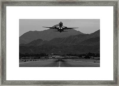 Alaska Airlines Palm Springs Takeoff Framed Print by John Daly