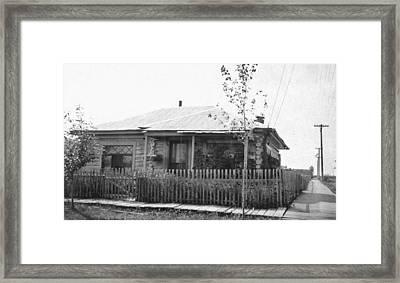 Alaska Log Cabin Framed Print by Granger