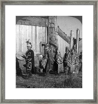 Alaska Potlatch Dancers Framed Print by Granger