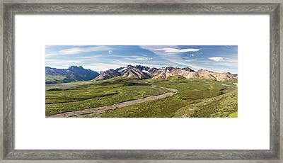 Alaska Range From Polychrome Pass Framed Print by Panoramic Images