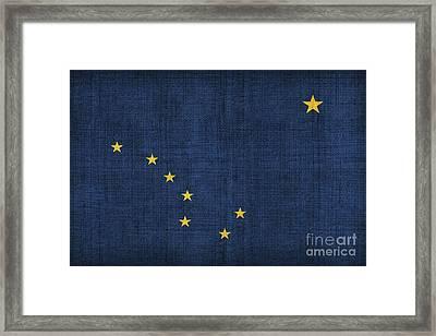 Alaska State Flag Framed Print by Pixel Chimp
