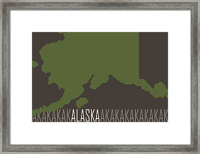 Alaska State Modern Framed Print by Flo Karp