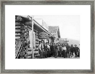 Alaskan Gold Miners Town Framed Print by Underwood Archives