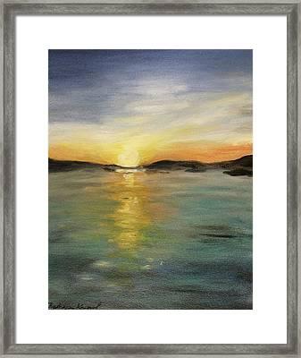 Alaskan Sunrise Framed Print by Barbara Anna Knauf